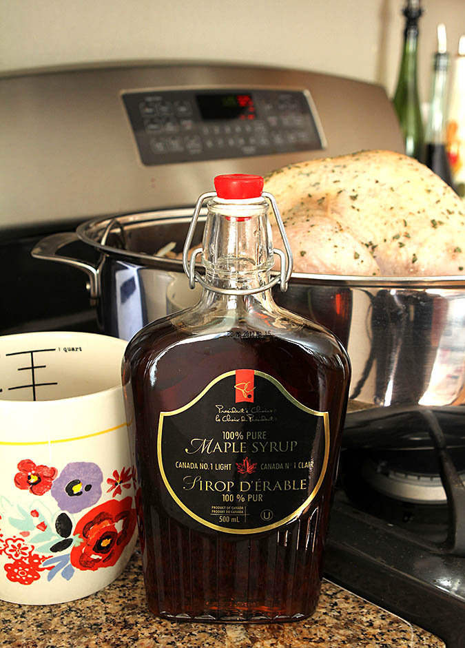 Canadian Maple Syrup in a Glass Jar