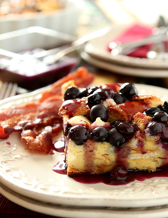 Blueberry and Cream Cheese Stuffed French Toast