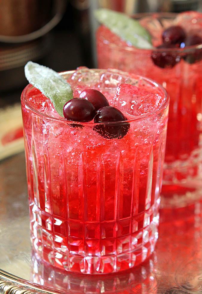 Cranberry Sage Cocktail