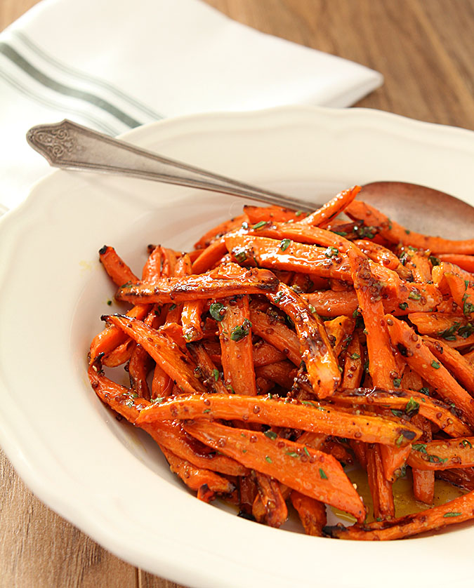 Roasted Carrots with Honey, Rosemary and Thyme | Creative Culinary | A ...