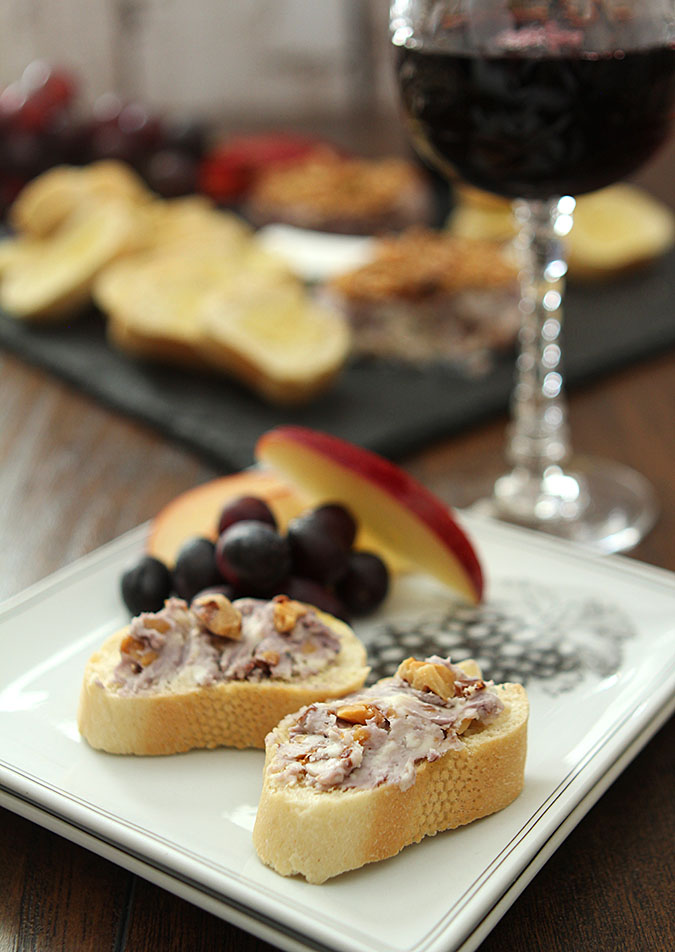 Blue Cheese, Walnut, and Port Wine Pâté