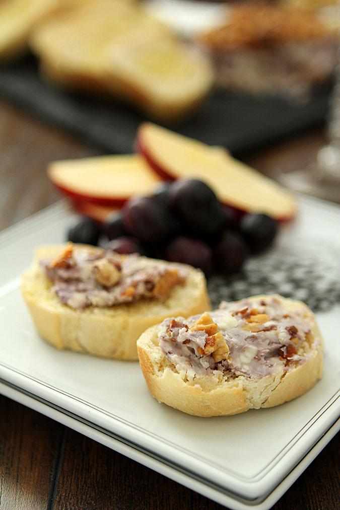 Blue Cheese, Walnut, and Port Wine Pâté