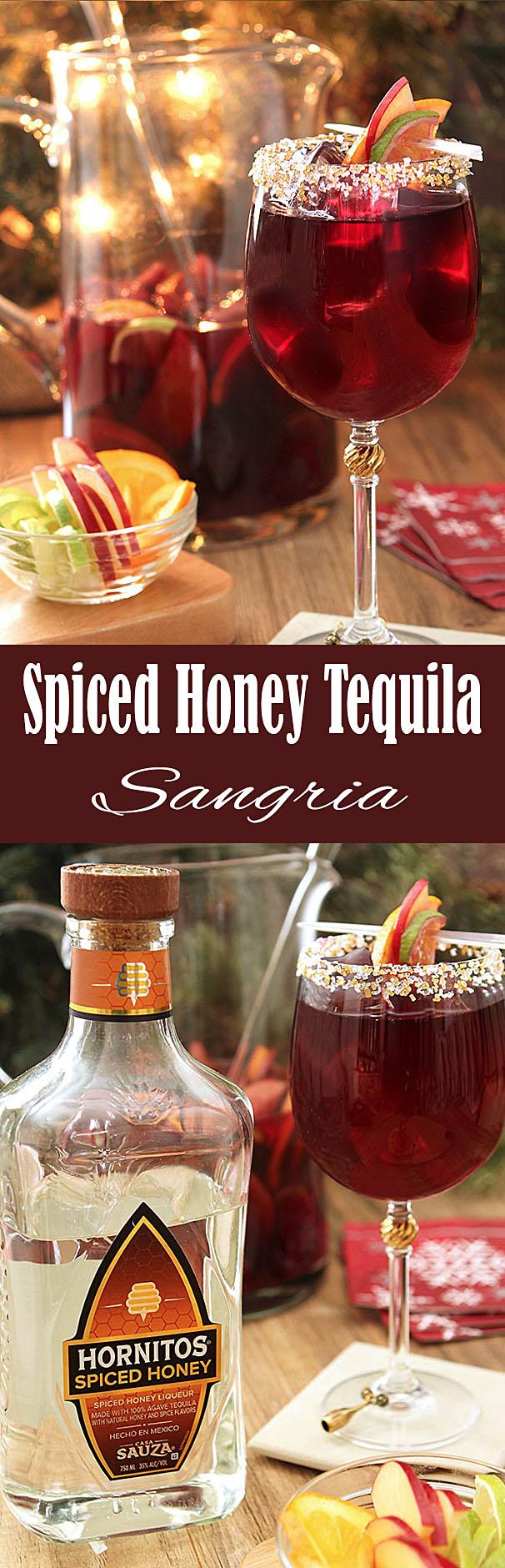 Spiced Honey Tequila Sangria