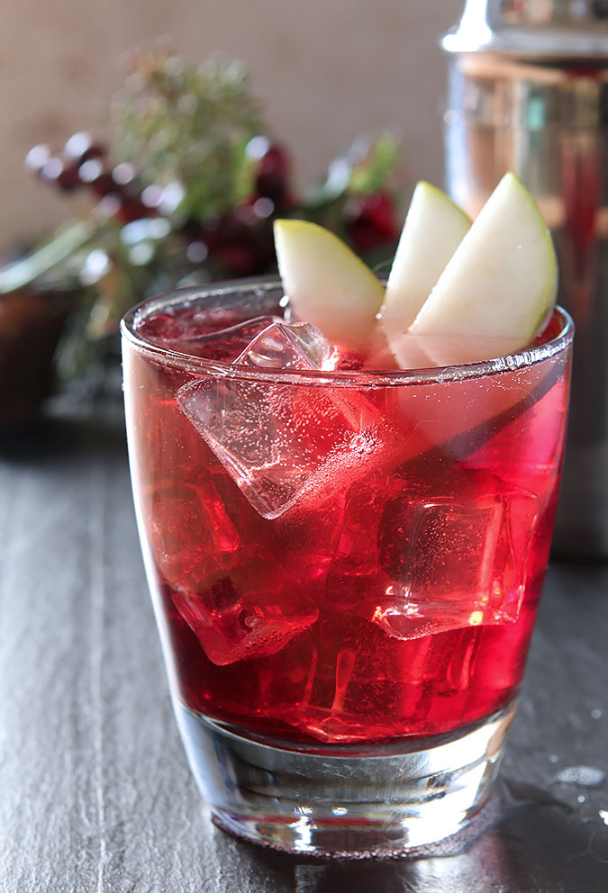 The Jubilee Cocktail - Vodka, Red Wine and Spiced Pear Liqueur