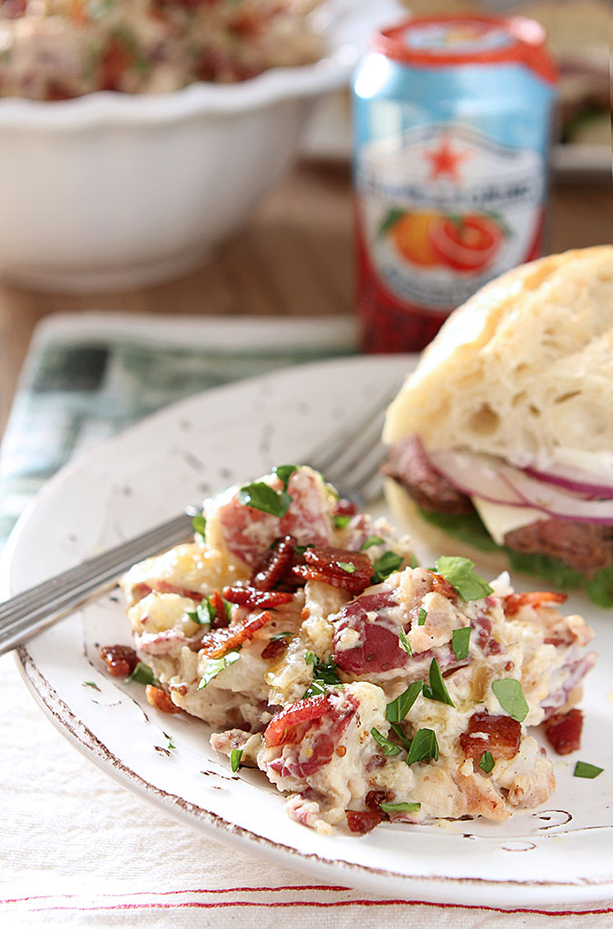 Bacon and Caramelized Onion Potato Salad