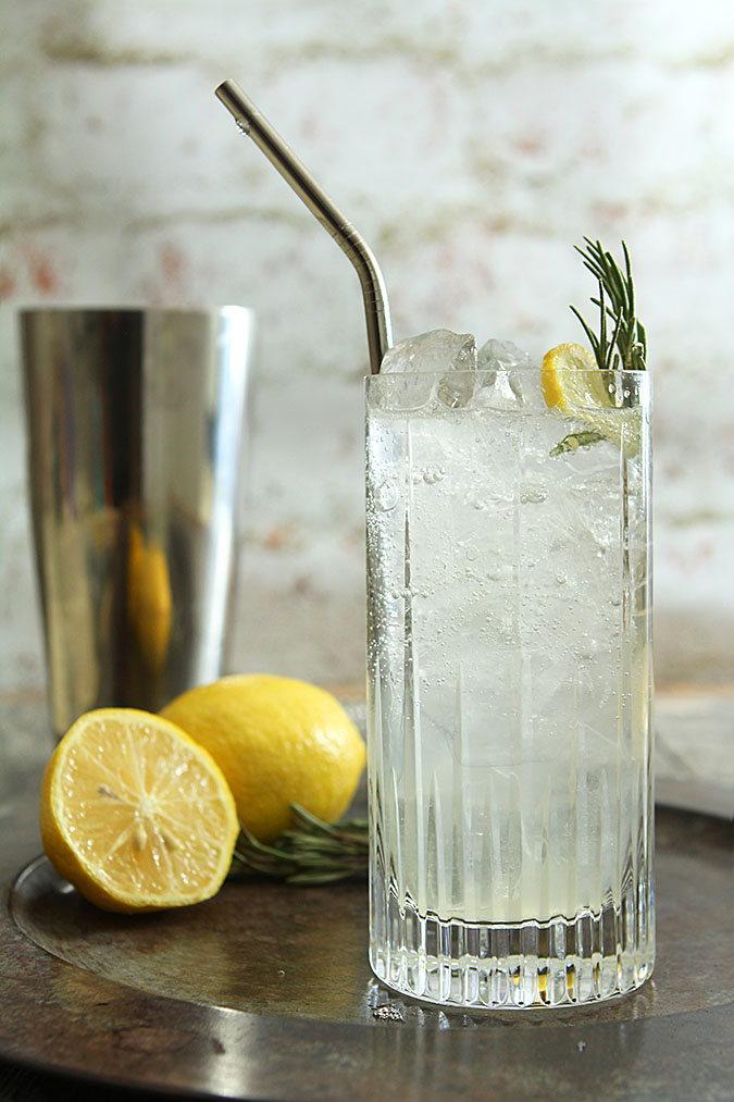 Rosemary Collins - Gin, simple syrup and lemon are transformed with a hint of rosemary.
