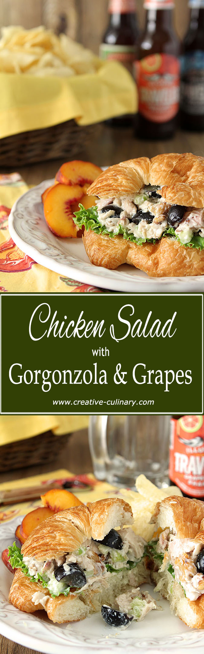 This Gorgonzola Chicken Salad With Grapes And Walnuts Is An Update From An Old Favorite And