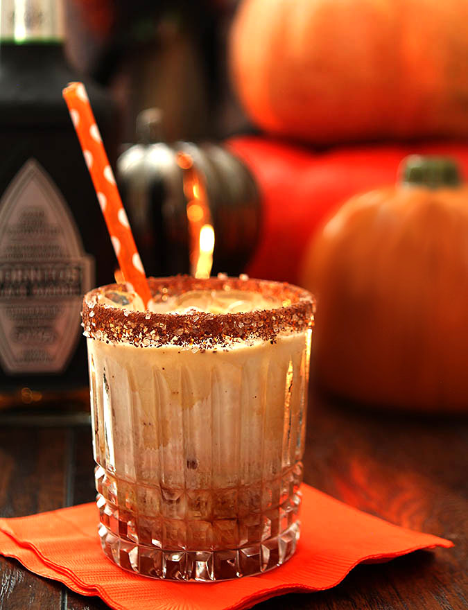 The Black Goblin - Tequila, Coffee Liqueur, and Half and Half
