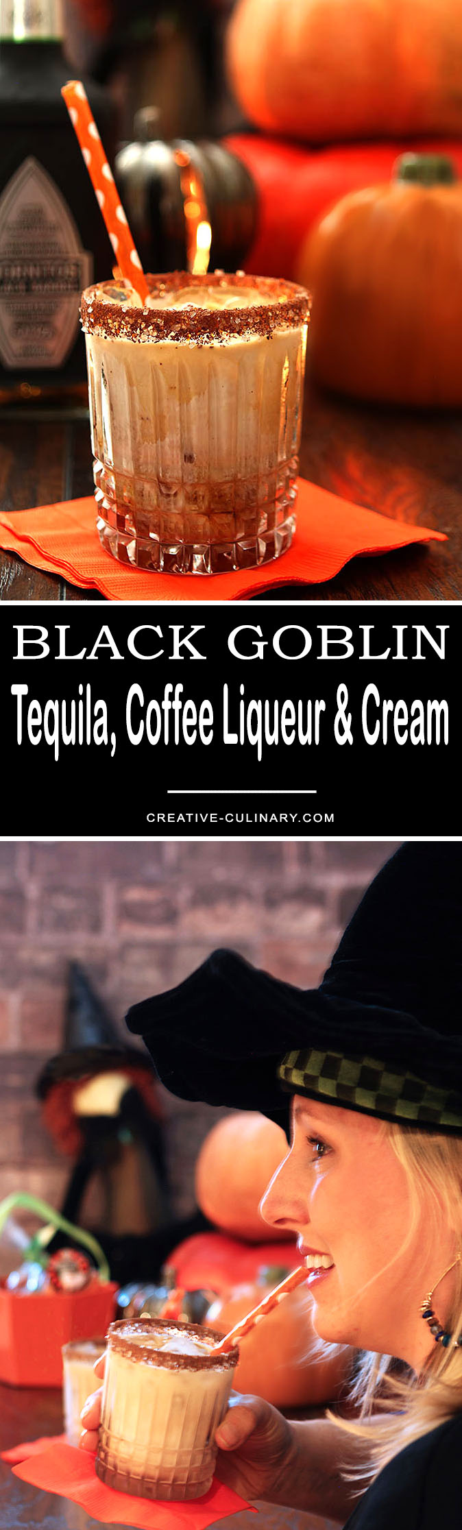 Love Coffee Liqueur and Cream? Take a leap of faith and try something new with the The Black Goblin - Tequila, Coffee Liqueur and Cream. Vodka might be a thing of the past this is SO good!