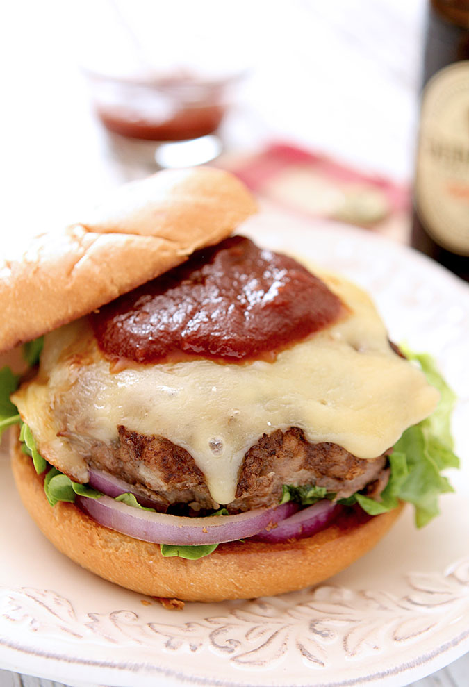 Beef Burger with Homemade Guinness Irish Stout Ketchup