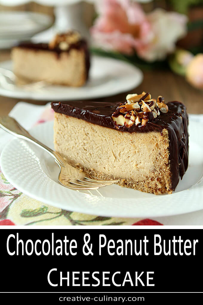 Chocolate and Peanut Buttter Cheesecake PIN