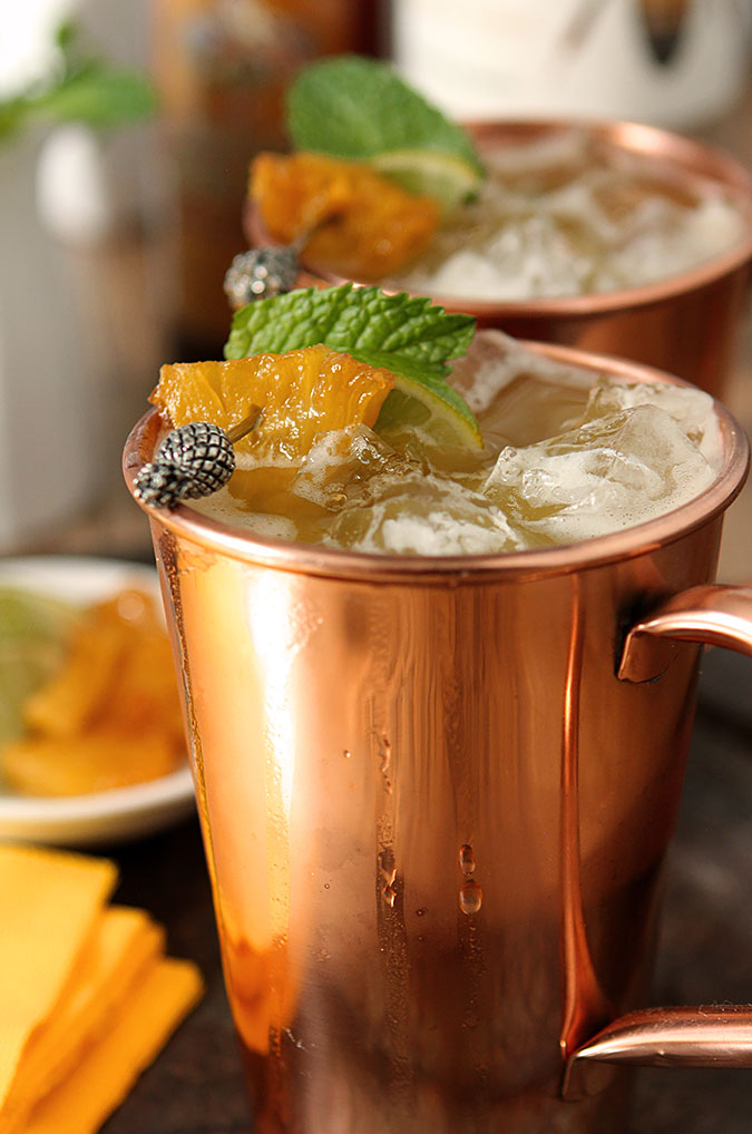 brown sugar and roasted pineapple moscow mule vodka creative culinary drinkwire. Black Bedroom Furniture Sets. Home Design Ideas