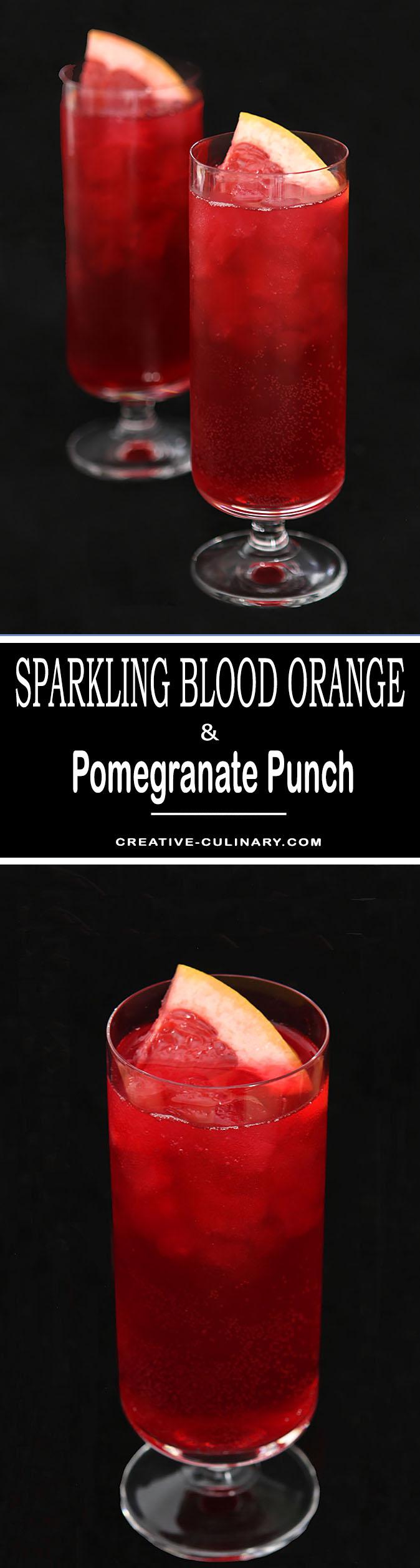Sparkling Blood Orange and Pomegranate Punch