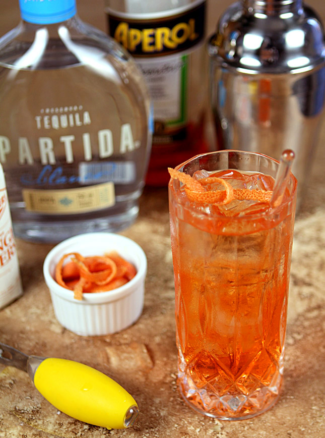 Aperol Tequila Swizzle from 'Savory Cocktails' by Greg Henry