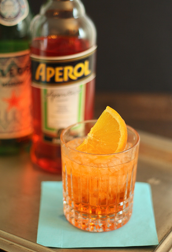 The aperol spritz for Cocktail spritz