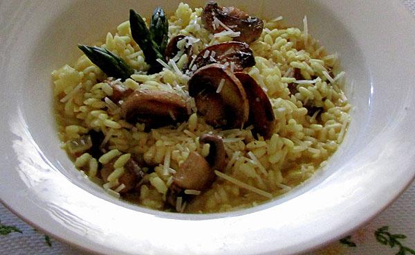 Asparagus and Mushroom Risotto