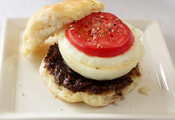 Maple Bourbon Bacon Jam and Egg Muffin