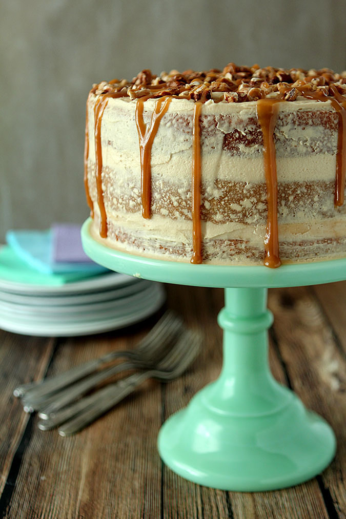 Salted Caramel Cake Recipe banana cake with salted caramel frosting | creative culinary | a