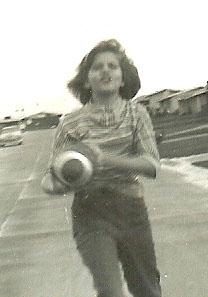 Barbara playing football