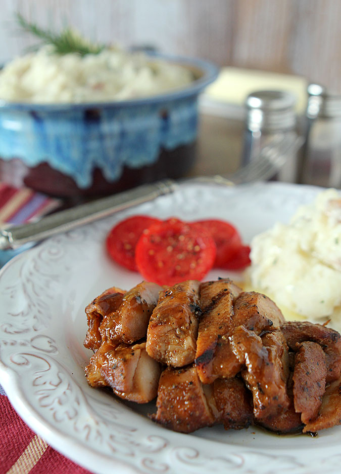 Barbecue Chicken with Peach Barbecue Sauce