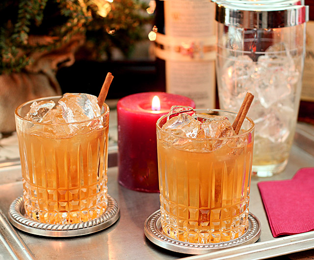 Basil Hayden's Holiday Spice Cocktail from Joaquín Simó