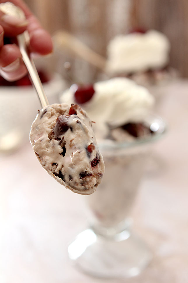 Black Forest Ice Cream Sundaes from @creativculinary