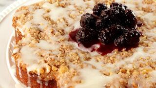 Blackberry Cream Cheese Coffee Cake