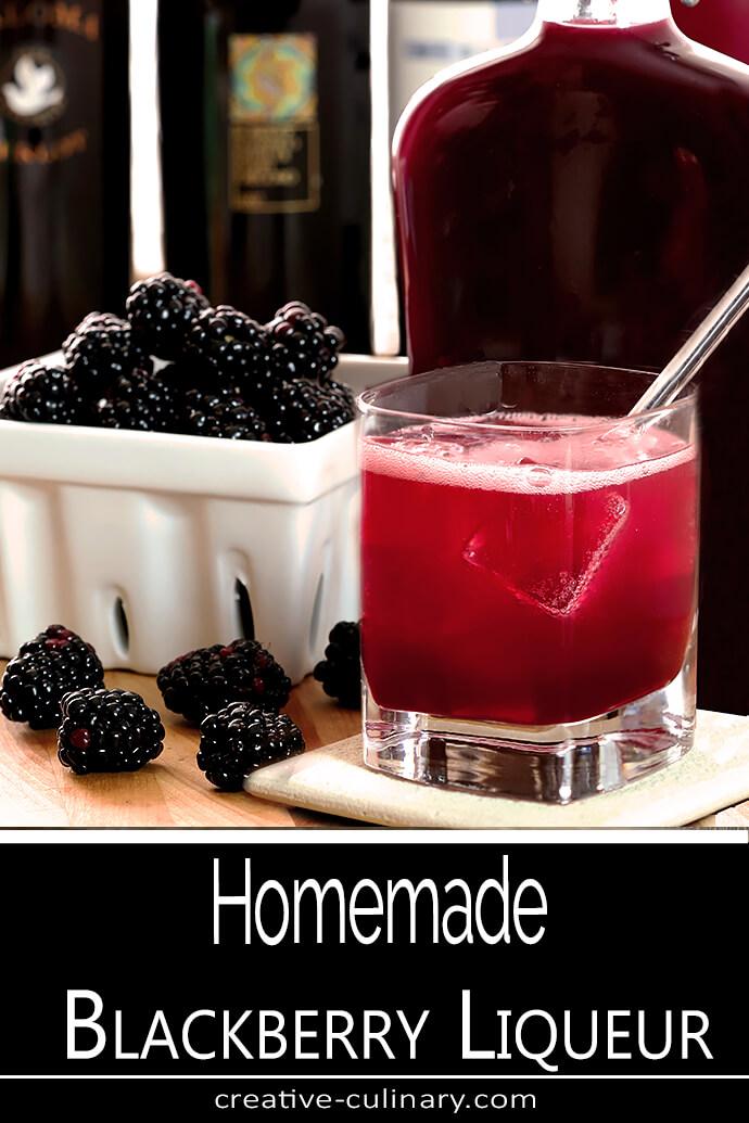 Homemade Blackberry Liqueur (Crème de