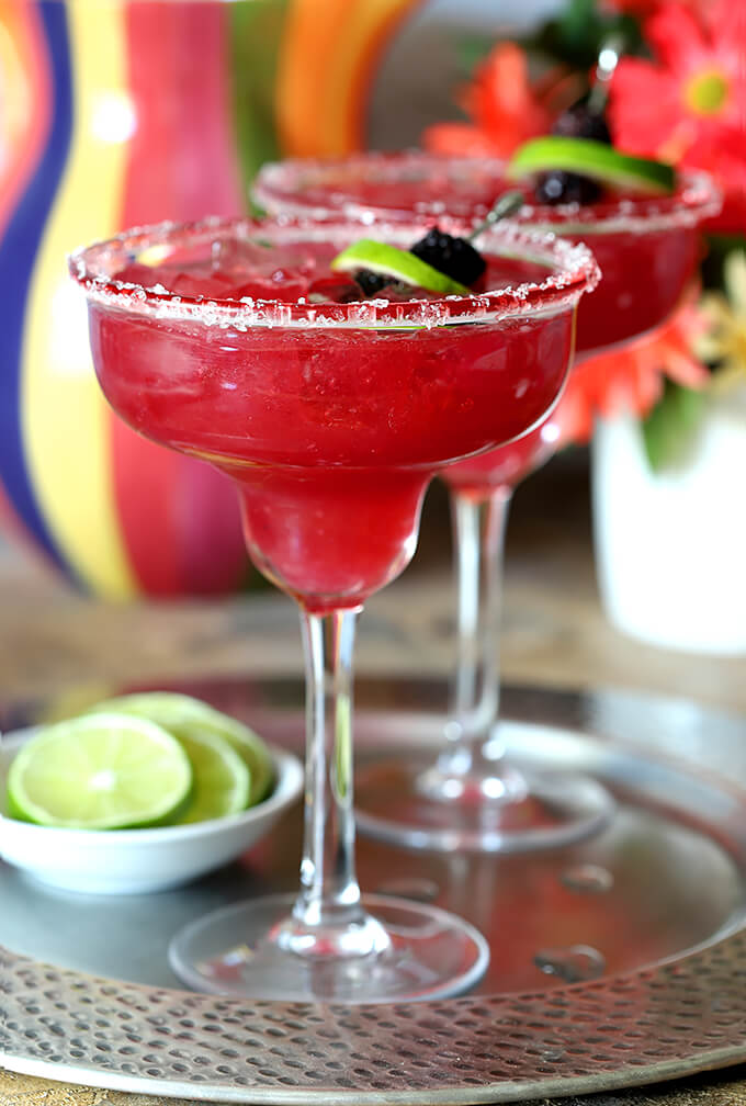 Fresh Blackberries Margaritas