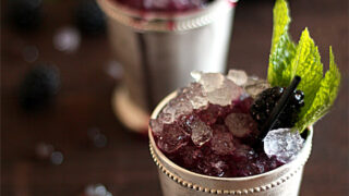 Sparkling Blackberry Mint Julep Cocktail