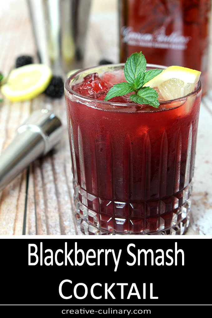 Blackberry Smash Cocktail PIN