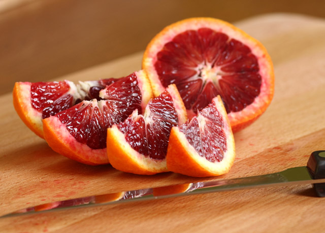 Quartered Blood Oranges