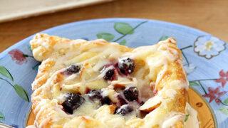 Blueberry, Cream Cheese, and Almond Danish