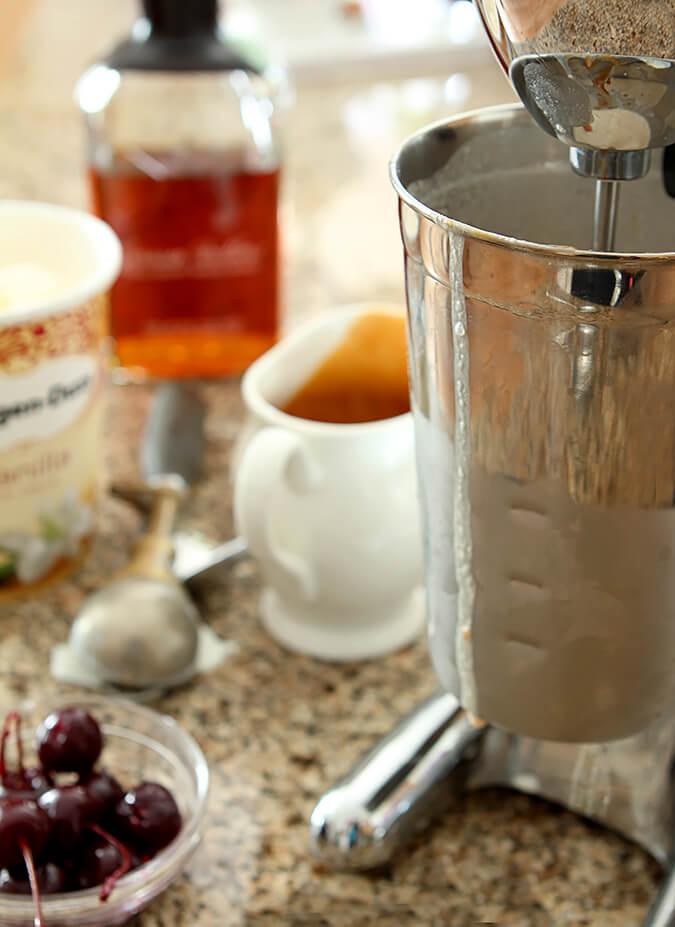 Boozy Salted Caramel Milkshake