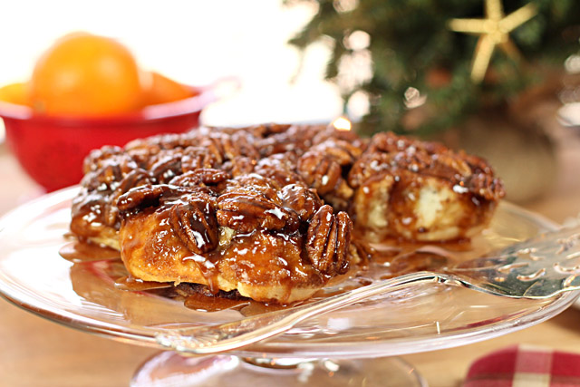 Pecan Sticky Buns with Orange and Bourbon Glaze