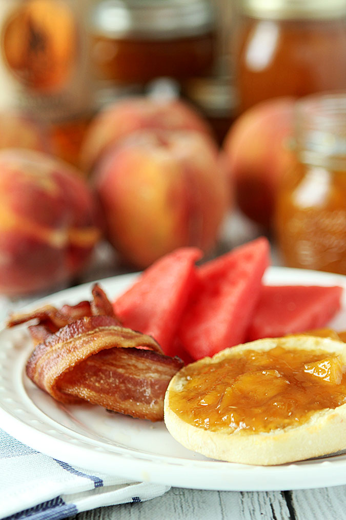 Bourbon Peach Jam Recipe — Dishmaps