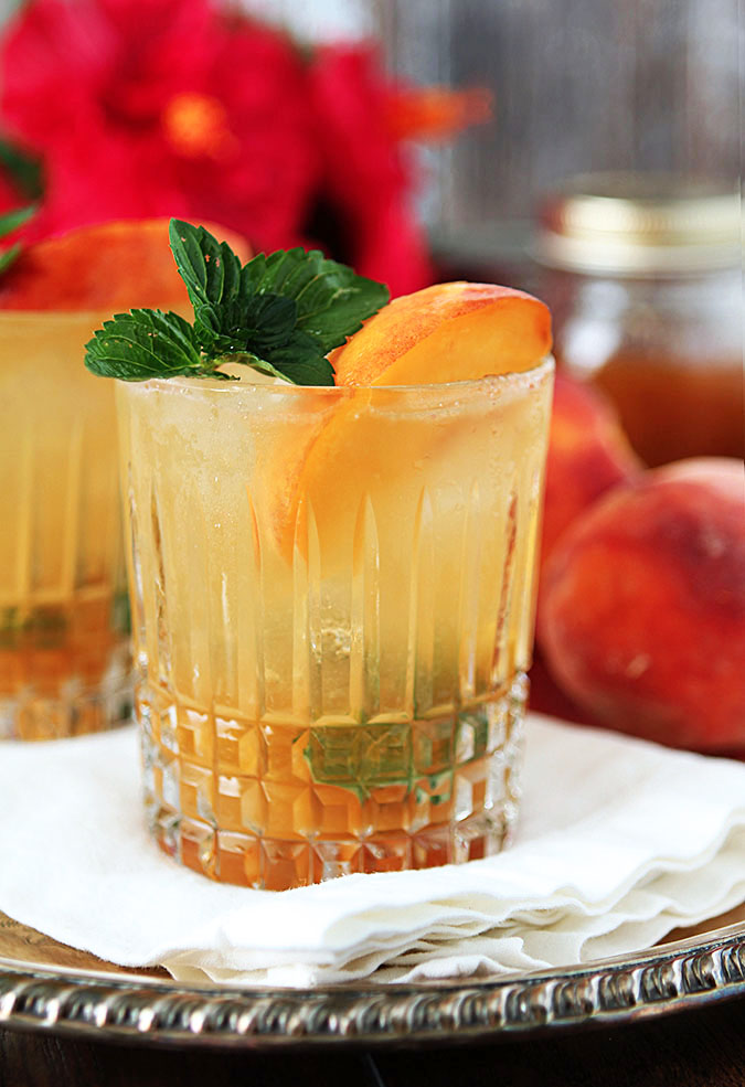 Bourbon and Peach Jam Smash | Creative Culinary