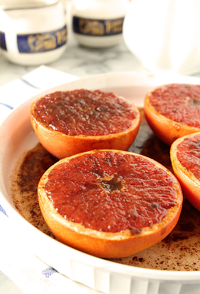 Rum and Brown Sugar Broiled Grapefruit