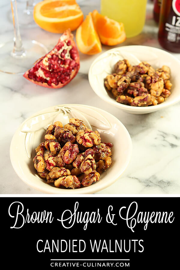 Brown Sugar and Cayenne Candied Walnuts PIN