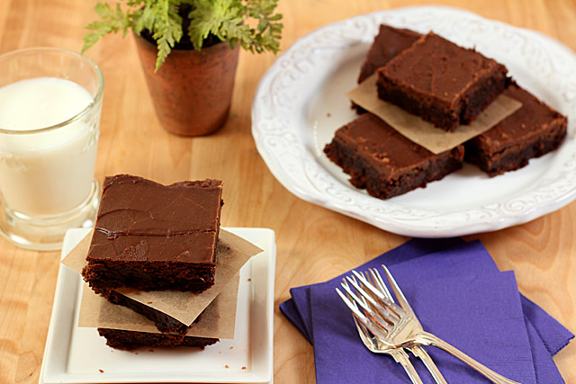 Mexican Brownies With Espresso Glaze Recipe — Dishmaps