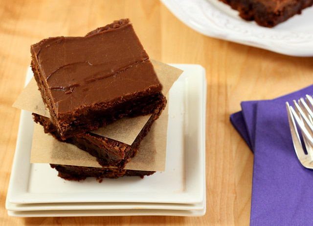 Mexican Brownies with Espresso Glaze