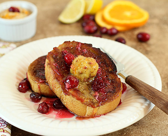 French Toast With Toasted Walnut, Orange, Cranberry And ...