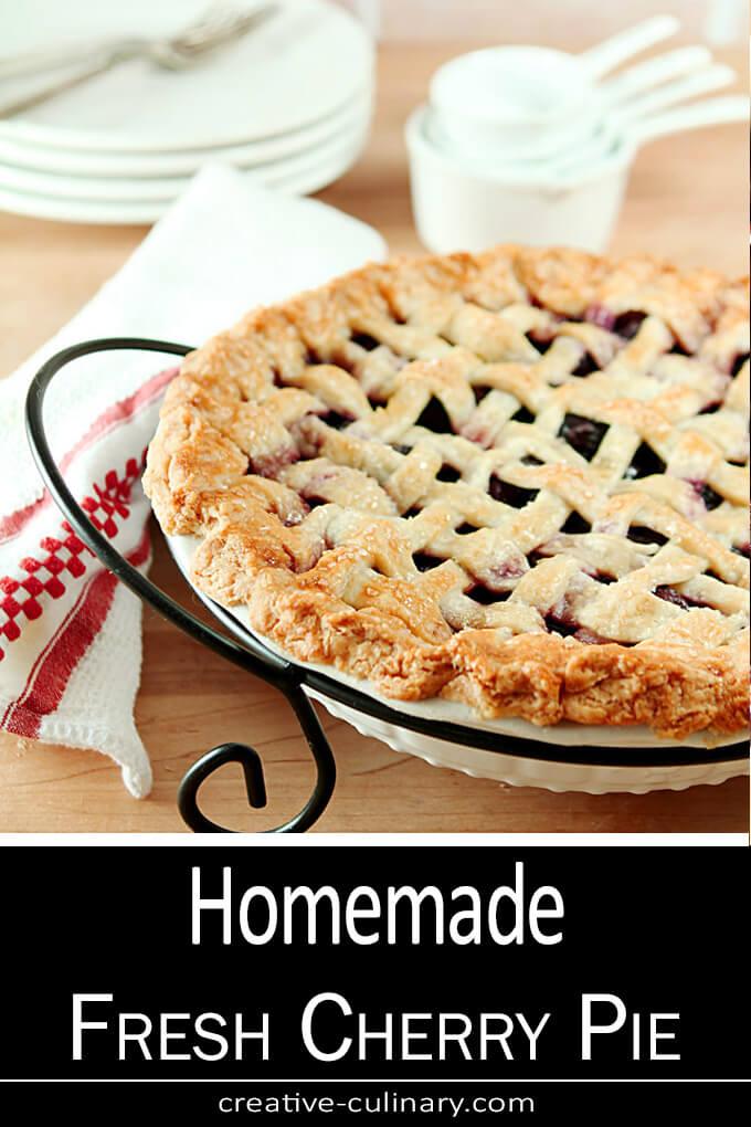 Homemade Fresh Cherry Pie PIN