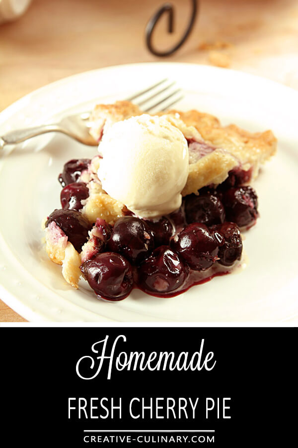 Homemade Fresh Cherry Pie PIN