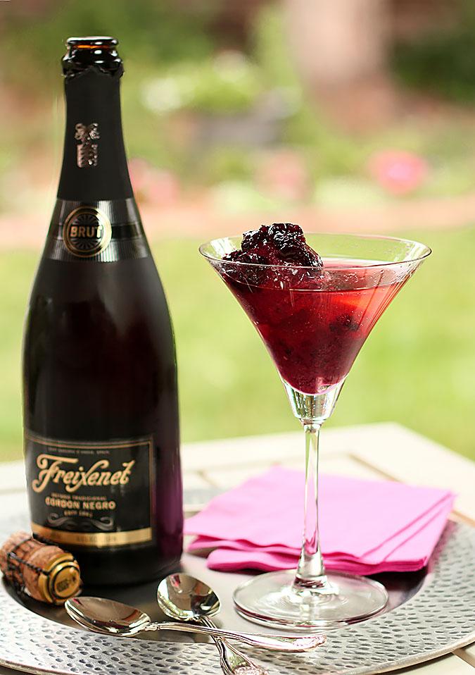 Bing Cherry Sorbet with Cava Sparkling Wine