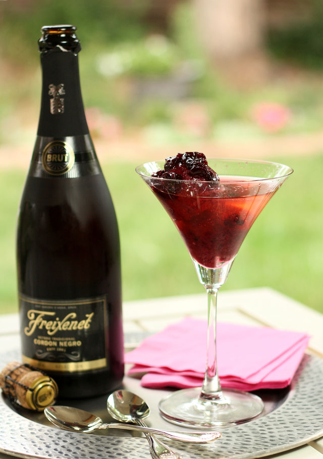 Bing Cherry Sorbet with Cava Sparkling Wine and Brandied Cherry ...