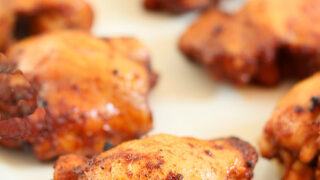 Spiced Honey Brushed Chicken Thighs