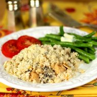 Chicken with Mushrooms, Rice and a Marsala Cream Sauce