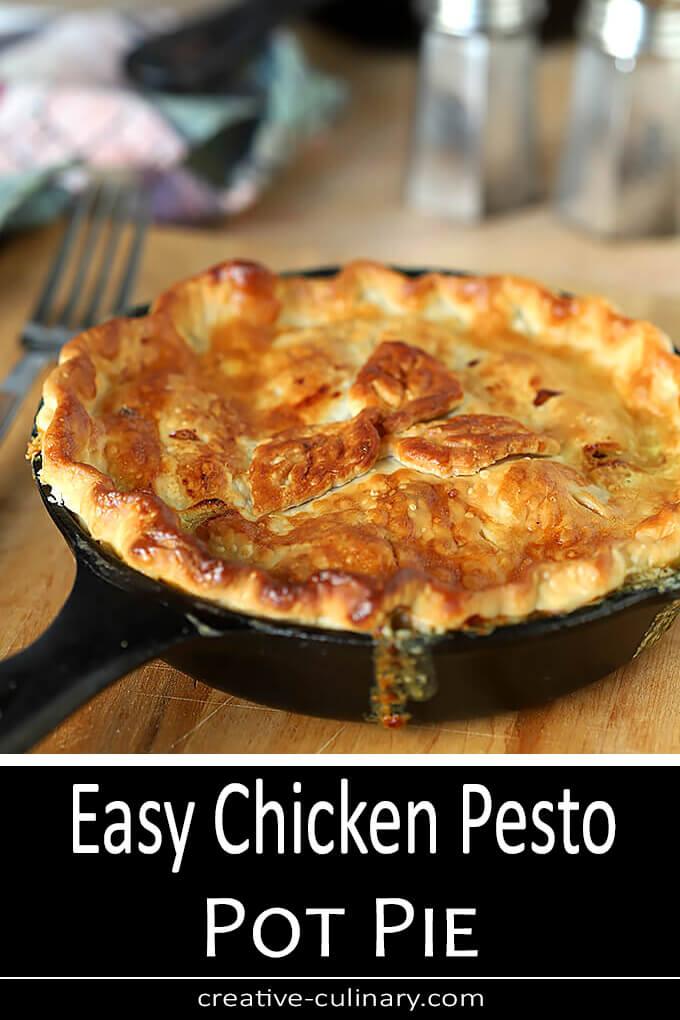 Chicken Pesto Pot Pie