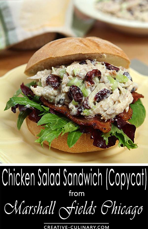 Chicken Salad Sandwich from Marshall Fields Chicago
